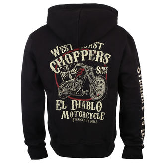 hoodie men's - EL DIABLO - West Coast Choppers