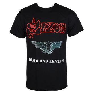 t-shirt metal men's Saxon - DENIM & LEATHER - RAZAMATAZ