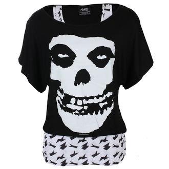 t-shirt metal women's Misfits - SKULL - LIVE NATION, LIVE NATION, Misfits