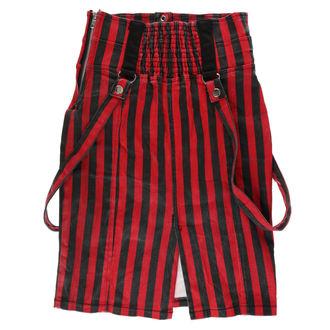 skirt women's HEARTLESS - BREAK - BLACK / RED - DAMAGED, HEARTLESS