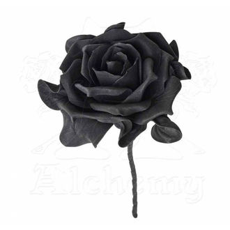 Decoration ALCHEMY GOTHIC - Single Black Rose with Stem - ROSE5