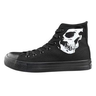high sneakers unisex Skull 2 - AMENOMEN - OMEN111TRAMP