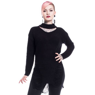 Sweater women's Vixxsin - SLIT NECK DECAY - BLACK, VIXXSIN