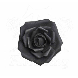 Decoration ALCHEMY GOTHIC - Small Black Rose Head - ROSE4