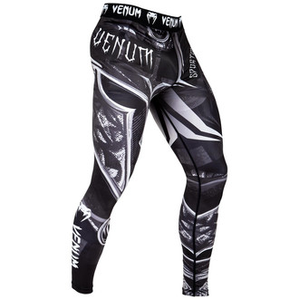 Men's work-out leggings (compression pants) VENUM  - Gladiator 3.0 - Black / White, VENUM