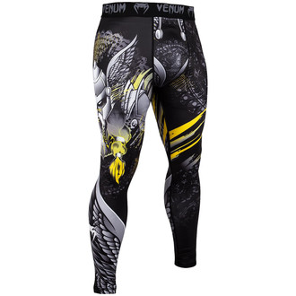 Men's work-out leggings (compression pants) Venum - Viking 2.0 - Black / Yellow, VENUM