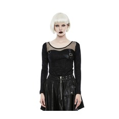t-shirt gothic and punk women's - Tech Noir - PUNK RAVE, PUNK RAVE