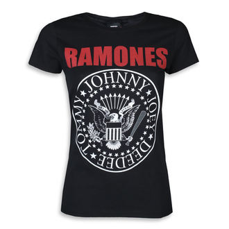 t-shirt metal women's Ramones - RED TEXT SEAL LOGO - PLASTIC HEAD, PLASTIC HEAD, Ramones