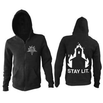 hoodie men's - Stay Lit - BLACK CRAFT