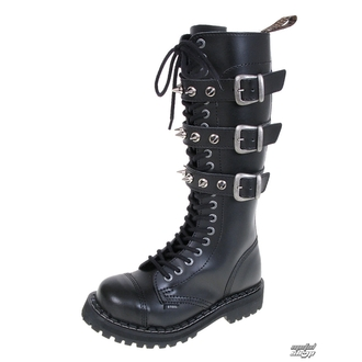 leather boots women's - STEEL - 3P SPIKES