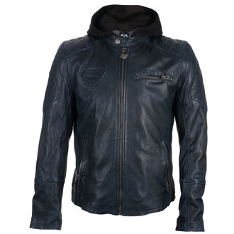 leather jacket Superman - DARK BLUE -