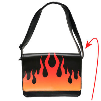 handbag IRON FIST - Fire Sign - Black - IFW05069 - DAMAGED, IRON FIST