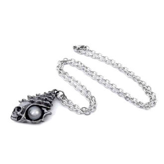 Pendant necklace ALCHEMY GOTHIC - The Black Pearl Of Plage Noire, ALCHEMY GOTHIC