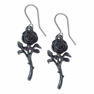 Earrings ALCHEMY GOTHIC - Romance Of The Black Rose - E421
