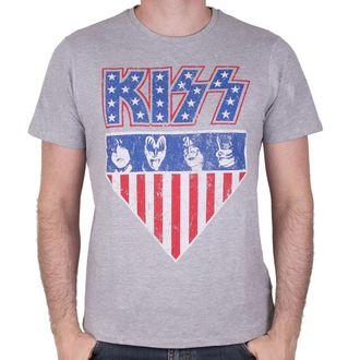 tričko pánské KISS - AMERICAN STYLE - GREY - LEGEND, LEGEND, Kiss