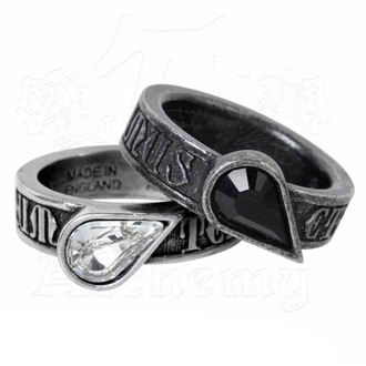 A pair of rings (2x) ALCHEMY GOTHIC - Twin Heart Promise, ALCHEMY GOTHIC