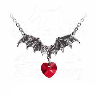 Necklace ALCHEMY GOTHIC - Vampire Love Heart, ALCHEMY GOTHIC