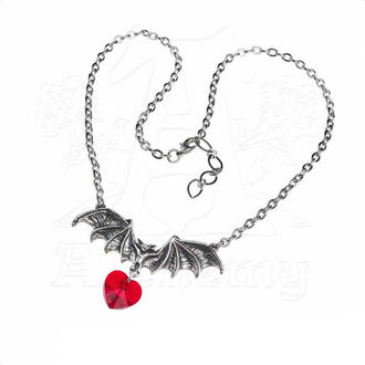 Necklace ALCHEMY GOTHIC - Vampire Love Heart, ALCHEMY GOTHIC