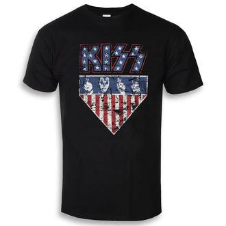tričko pánské KISS - Stars & Stripes - Black - HYBRIS, HYBRIS, Kiss