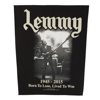 patch large Motörhead - Lemmy - lived To Win - RAZAMATAZ, RAZAMATAZ, Motörhead