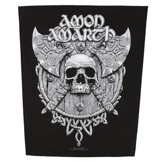 patch large AMON AMARTH - SKULL AND AXES - RAZAMATAZ, RAZAMATAZ, Amon Amarth