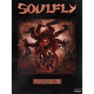 flag Soulfly 'Conquer 1', HEART ROCK, Soulfly