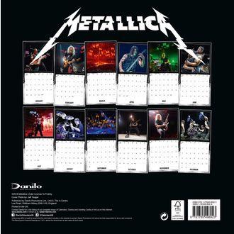 Calendar for year 2019 - METALLICA, Metallica