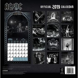 Calendar for year 2019 AC / DC, NNM, AC-DC