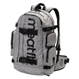 Backpack MEATFLY - WANDERER 4 - A - Heather Grey, MEATFLY