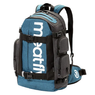 Backpack MEATFLY - WANDERER 4 - C - Ht. Petrol - Dark Ht. Grey, MEATFLY