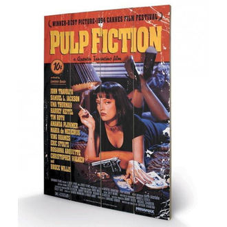 Wooden painting Pulp Fiction - (&&string0&&) - PYRAMID POSTERS, PYRAMID POSTERS