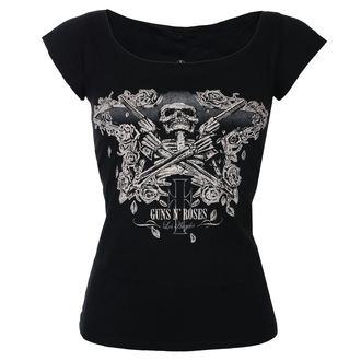 tričko dámské Guns N' Roses - Skeleton - Black - ROCK OFF, ROCK OFF, Guns N' Roses