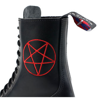 leather boots unisex - STEADY´S - STE/10/H_pentagram red