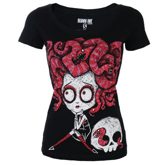 t-shirt hardcore women's - Medusa In Love Scoop - Akumu Ink, Akumu Ink