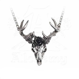Necklace ALCHEMY GOTHIC - White Hart Black Rose, ALCHEMY GOTHIC