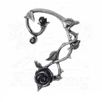 Earrings ALCHEMY GOTHIC - Black Rose Earwrap, ALCHEMY GOTHIC