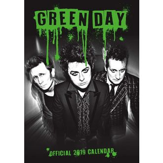 Calendar for year 2019 AC / DC - GREEN DAY, Green Day