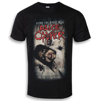 t-shirt metal men's Alice Cooper - Spend The Night With Spiders - ROCK OFF, ROCK OFF, Alice Cooper