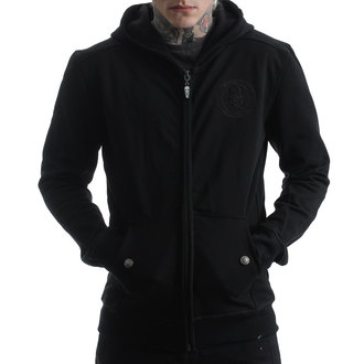 hoodie men's - BACK 2 BLACK - HYRAW