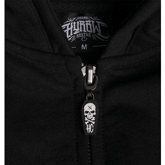 hoodie men's - BACK 2 BLACK - HYRAW