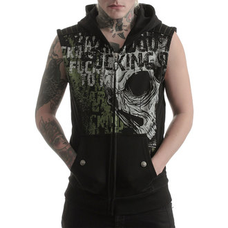 vest - IRON CROSS SLEEVELESS HOODY - West Coast Choppers