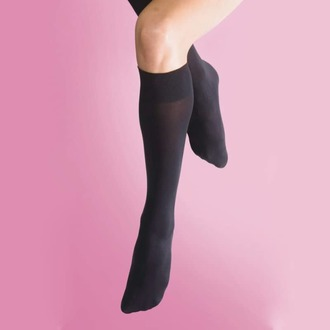 knee high LEGWEAR - 70 denier opaque knee high 1pp - black, LEGWEAR