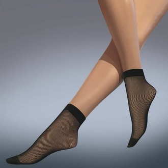 socks (tights) LEGWEAR - fishnet ankle highs - black, LEGWEAR